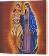 Kali And The Virgin Wood Print