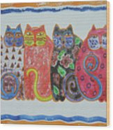 Kalico Kitties Wood Print