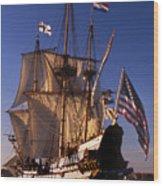 Kalmar Nyckel Wood Print