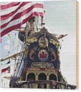 Kalmar Nyckel Tall Ship Wood Print