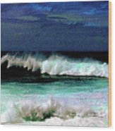 Kaluakoi Surf Wood Print