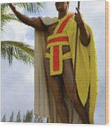 Kamehameha Wood Print