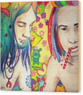 Kamil And Louis Wood Print