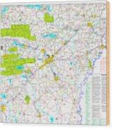 Kamkam Arkansas Highway Map  Wood Print