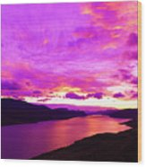 Kamloops Lake At Dawn Wood Print