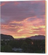 Kamloops Sunset 2 Wood Print