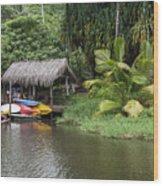 Kamokila Hawaiian Village - Kauai Wood Print