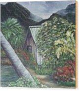 Kanaka House Wood Print