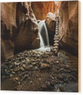 Kanarra Creek Falls  Wood Print