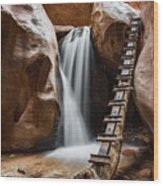 Kanarraville Falls Wood Print