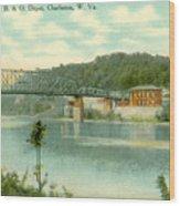 Kanawha Bridge Wood Print
