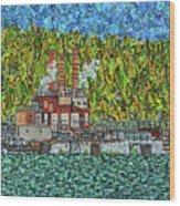 Kanawha River Wood Print