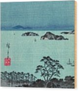 Kanazawa Full Moon 1857 Left Wood Print