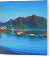 Kaneohe Bay - Early Morning Glass Wood Print by Joseph   Ruff
