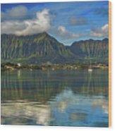 Kaneohe Bay Oahu Hawaii Wood Print