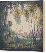 Kangaroo Kingdom Wood Print