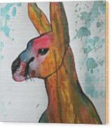 Kangaroo Water Wood Print