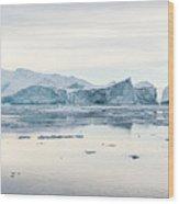 Kangia Icefjord Wood Print