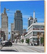 Kansas City Cross Roads Wood Print