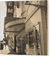 Kansas City - Gem Theater Sepia 2 Wood Print