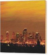 Kansas City Missouri Skyline Wood Print by Don Wolf