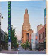 Kansas City Power And Light District Wood Print