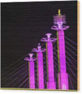 Kansas City Pylons In Pink Wood Print