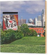 Kansas City Sky Line Wood Print