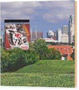 Kansas City Sky Line Wood Print
