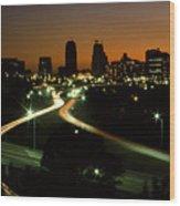 Kansas City Skyline, 1981 Wood Print