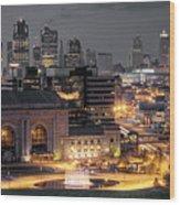 Kansas City Skyline Wood Print by Ryan Heffron