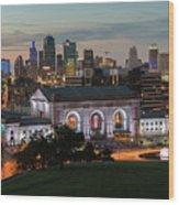 Kansas City Summer Sunset Wood Print