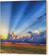 Kansas Country Sunset Wood Print