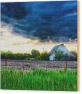 Kansas County Wood Print