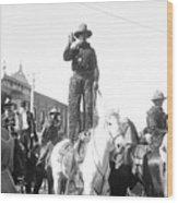 Kansas: Cowboy, C1908 Wood Print