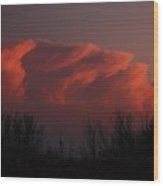 Kansas Storm At Sundown Wood Print