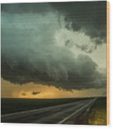 Kansas Storm Chase Bust Day 004 Wood Print