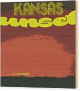 Kansas Travel Image Nine Wood Print