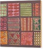 Kapa Squares 2 Wood Print