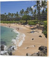 Kapalua Beach Resort Wood Print