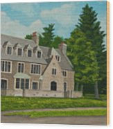 Kappa Delta Rho North View Wood Print