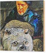 Kaptain Van Janned And His Trusty Bear Vincent Wood Print