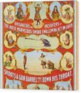 Kar-mi And The Great Victorina Troupe Originators Wood Print