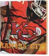 Kareem Hunt, Kansas City Chiefs Wood Print