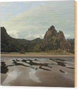 Karekare Beach Wood Print