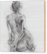 Karen - Sitting Wood Print