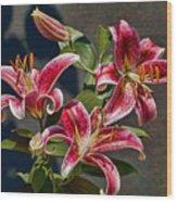 Karen's Lilies Wood Print