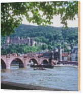 Karl Theodor Bridge And Heidelberg Castle  Wood Print