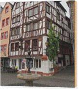 Karlsbaderplatz Bernkastel Kues Germany Wood Print