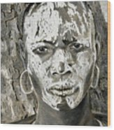 Karo Man Wood Print